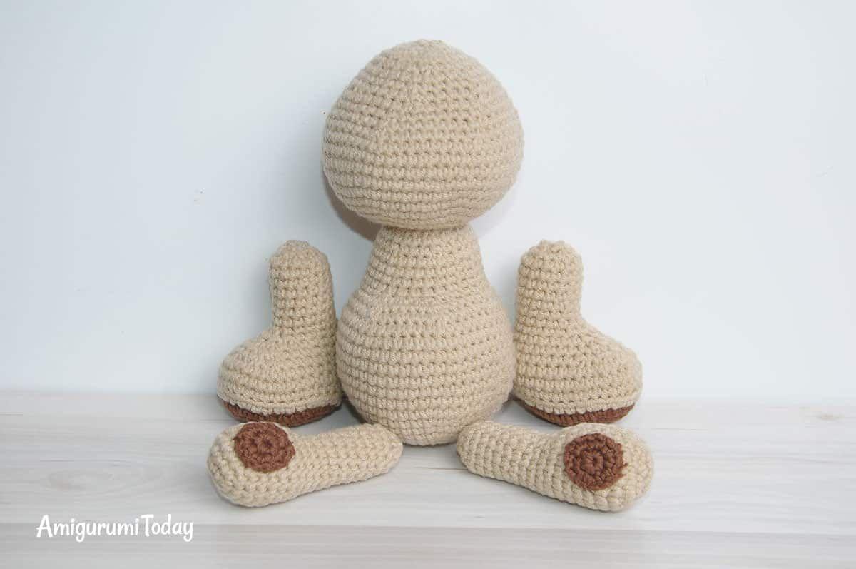 Amigurumi honey teddy bears - patrones de ganchillo gratis - montaje ...
