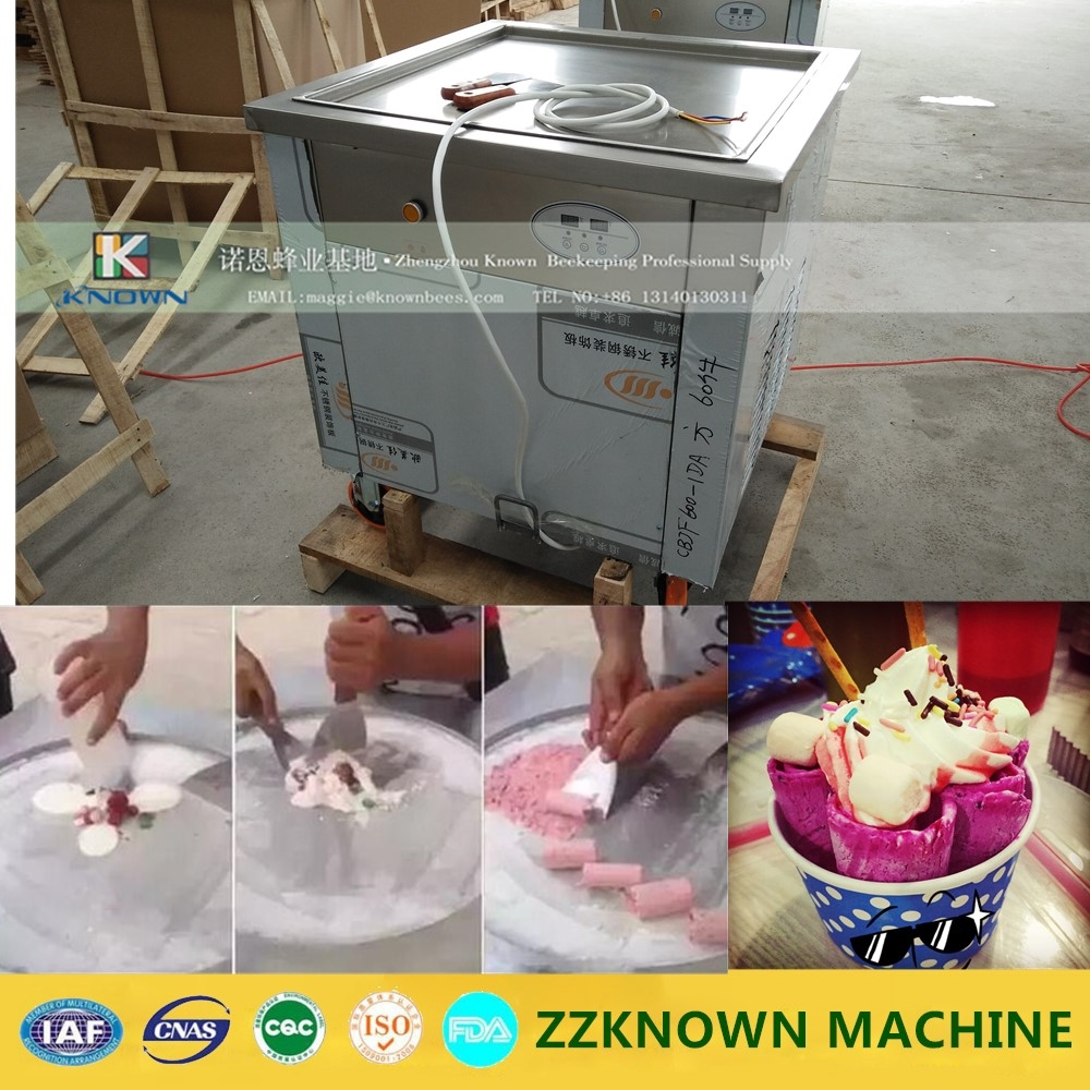 1700.02$  Buy here - 110/220V 50cm*50cm Large square flat pan Thailand fry ice cream machine, Frying ice cream rolls machine  #buychinaproducts