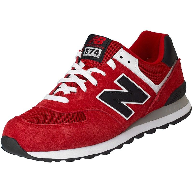 584c00484f New Balance ML 574 VRK Suede/Mesh red | new balance | New balance ...