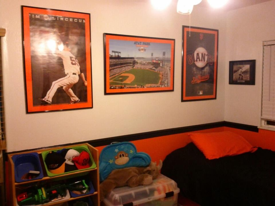 SF Giants Baseball Themed Kids Room