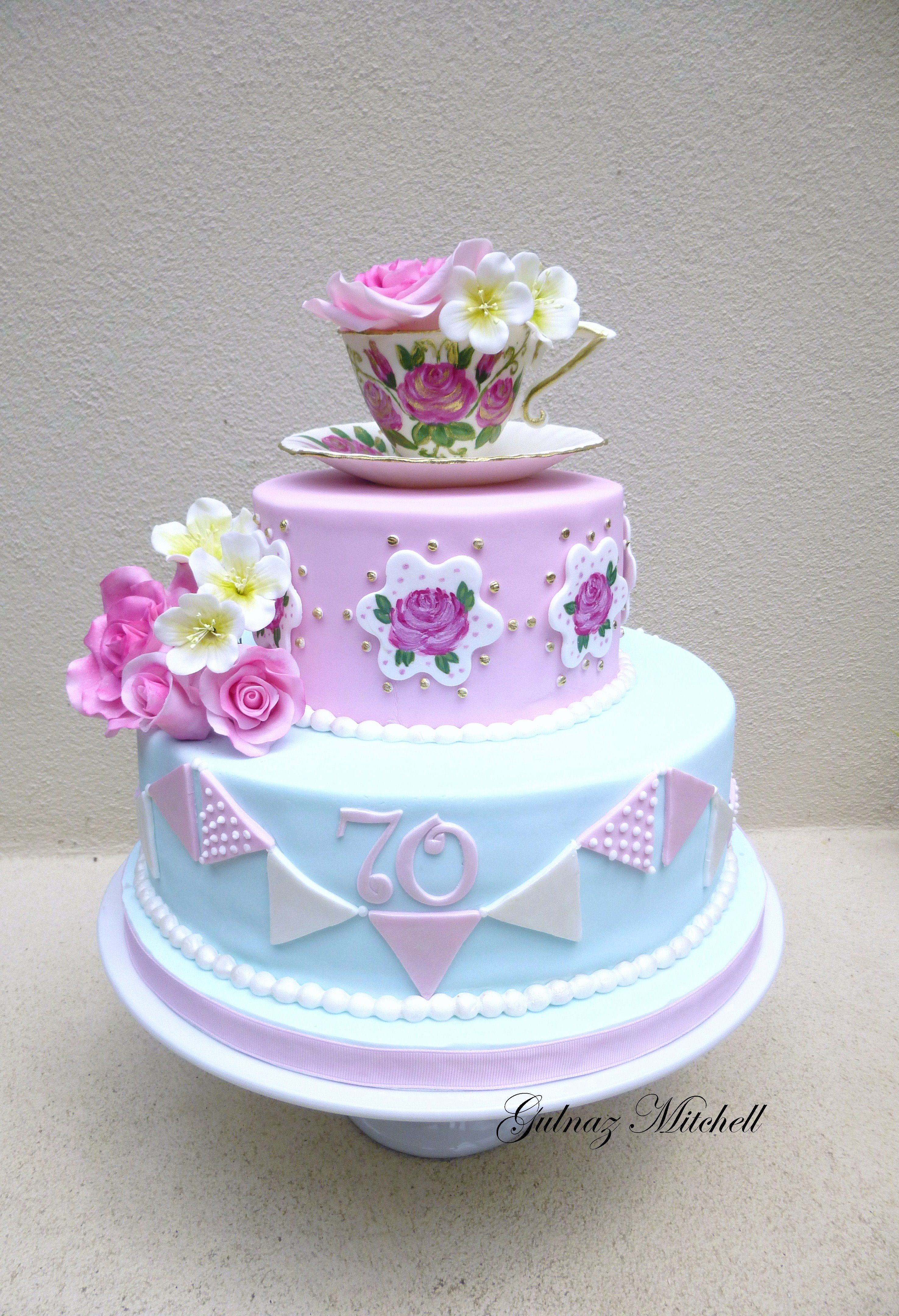 Tea Party Birthday Cakes Cake I Love Pinterest Tea Party