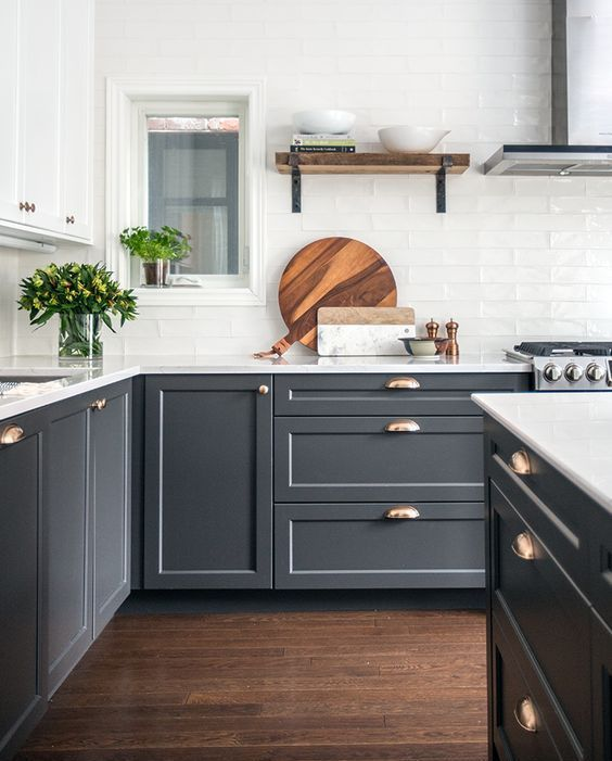 25 graphite grey cabinets are made more elegant with ...