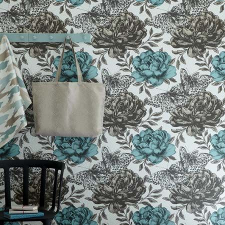 Largest Designer Fabric And Wallpaper Shop In Brisbane Modern Floral Wallpaper Shop Wallpaper Feature Wallpaper