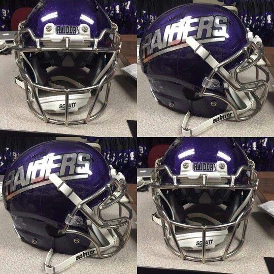 Mount Union Purple Raiders Chrome Helmet College Football