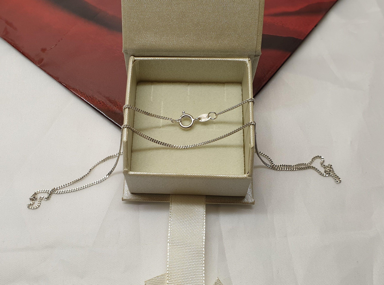 Venezianerkette 925 Silber 1,2 mm 38 cm Halskette Kette Silberkette Karabiner