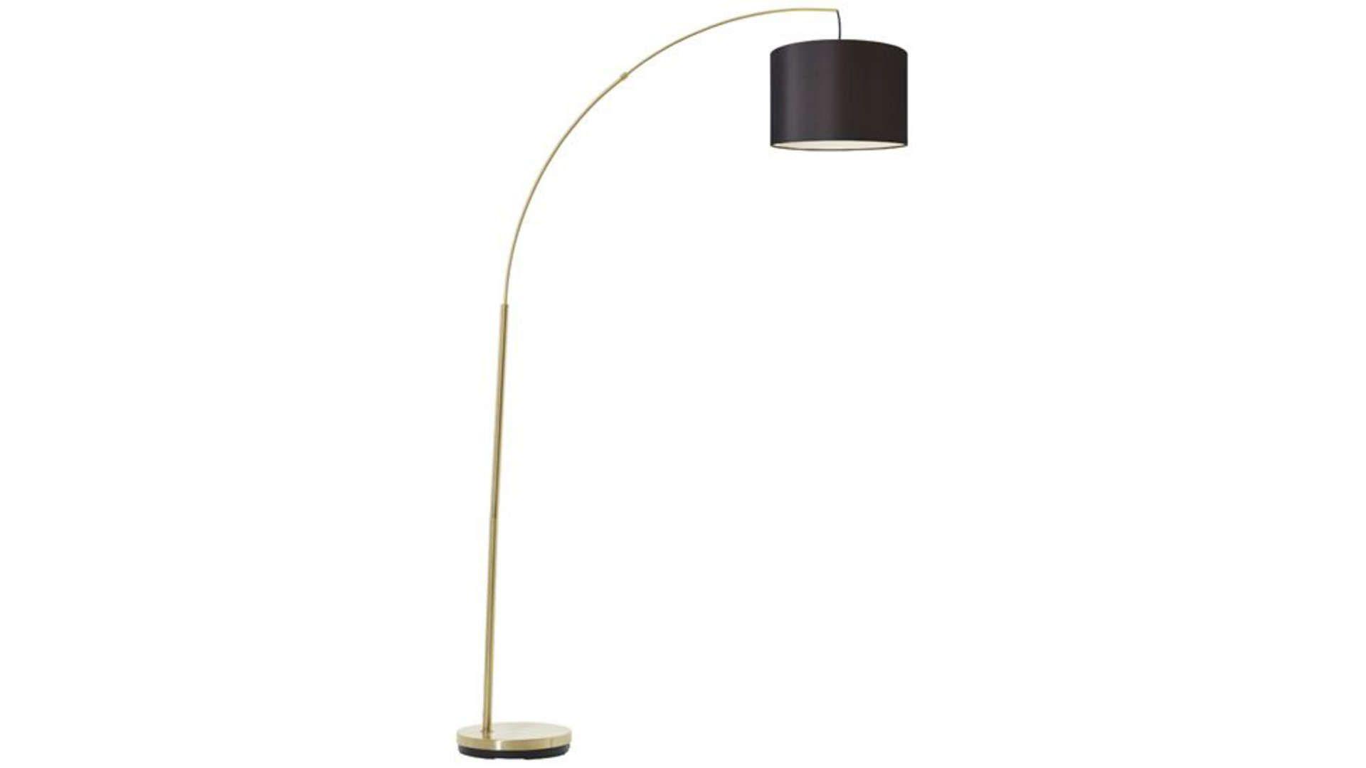 Lampadaire 180 Cm Clarie Coloris Noir Et Laiton Brosse En 2020