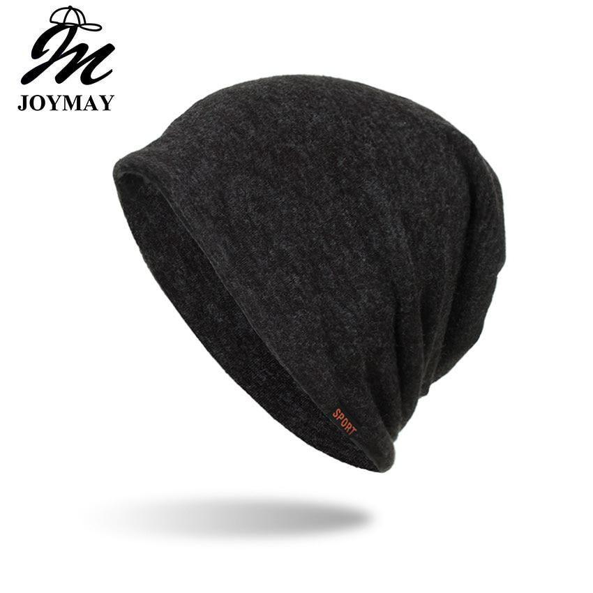 7c456225523 Joymay Winter Autumn Beanies Hat Unisex Solid color sport Warm Soft Skull  Knitting Cap Hats Touca Gorro Caps For Men Women WM080.