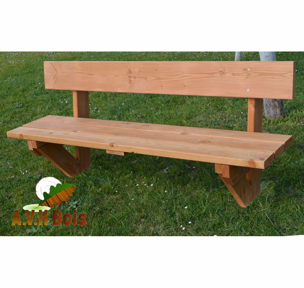 Banc en bois douglas | Mobilier de Jardin | Banc bois, Bois douglas ...