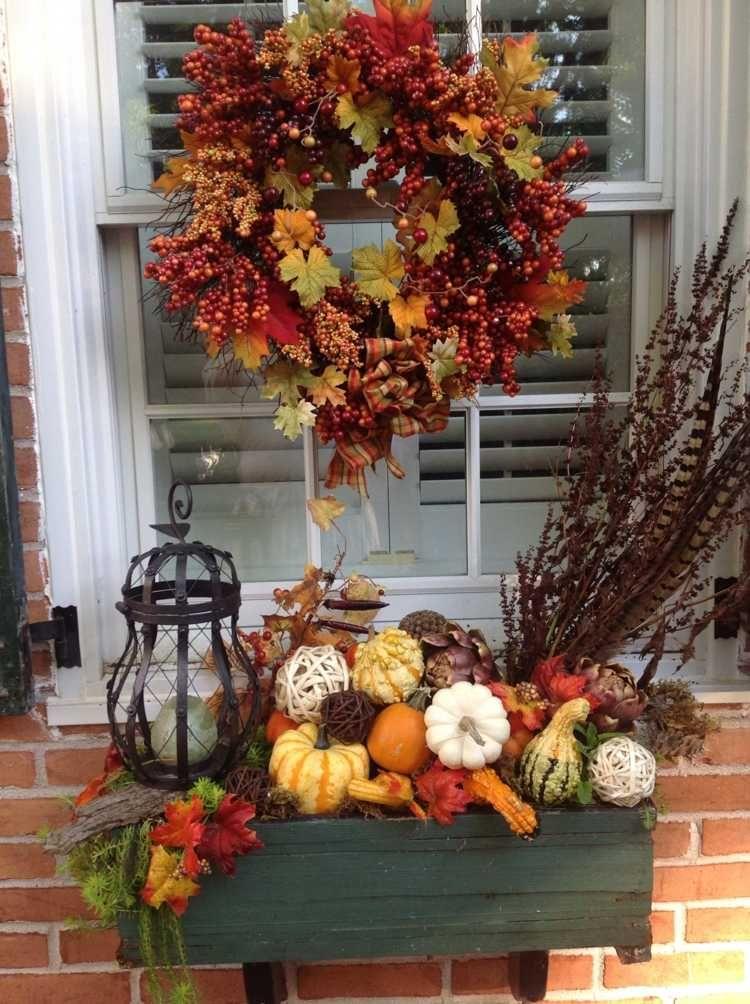 Dekorieren Im Herbst 45 Herbstliche Ideen Fur Draussen Fall Windows Fall Wreath Fall Decor