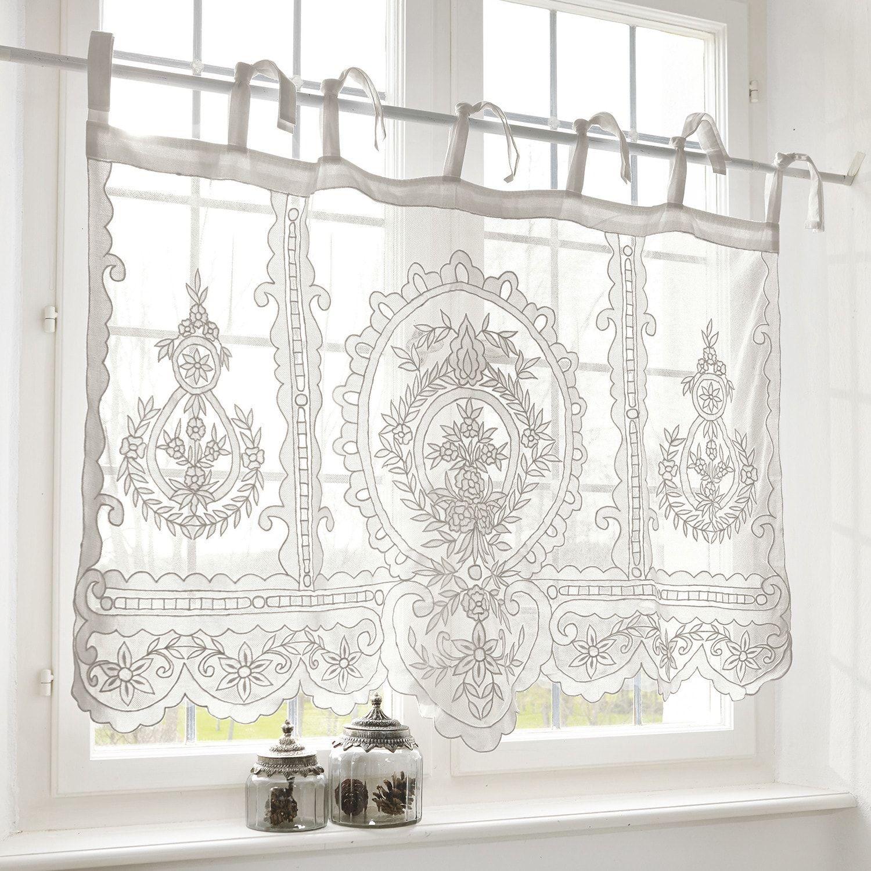 Scheibengardine Elenoire Loberon In 2020 Scheibengardine Bad Fenster Vorhange Badezimmer Fenster Ideen