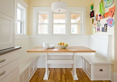 Measurements For A Breakfast Booth Breakfast Nook Booth Style Content In A Cottage Home Ideas Kitchen Booths Home Kitchens Kitchen Seating