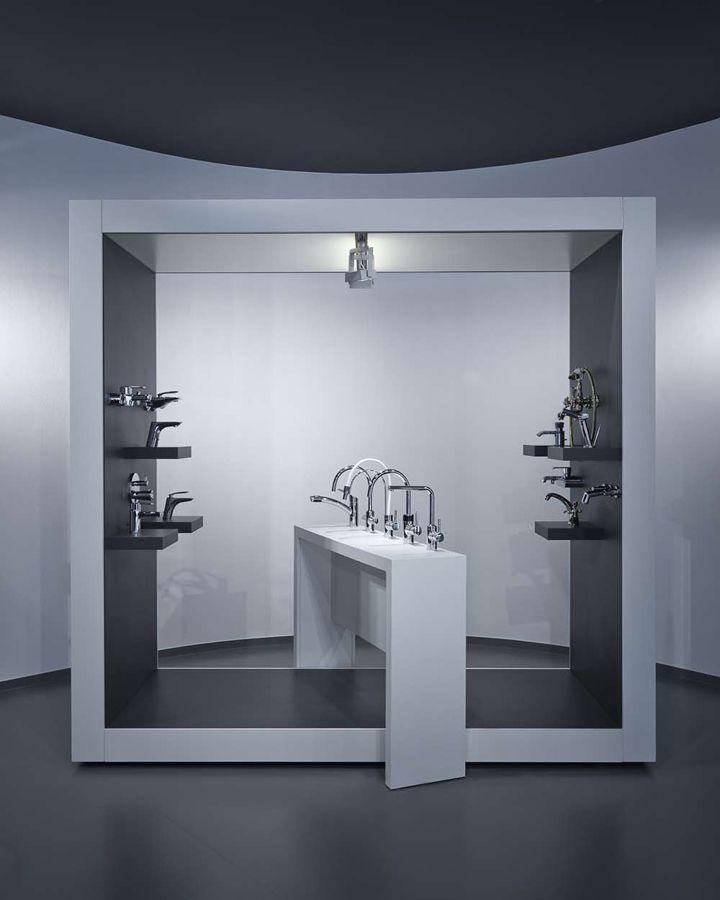 Kitchens Store: AquaMART Sanitary Showroom By FLÓ Architects, Budapest