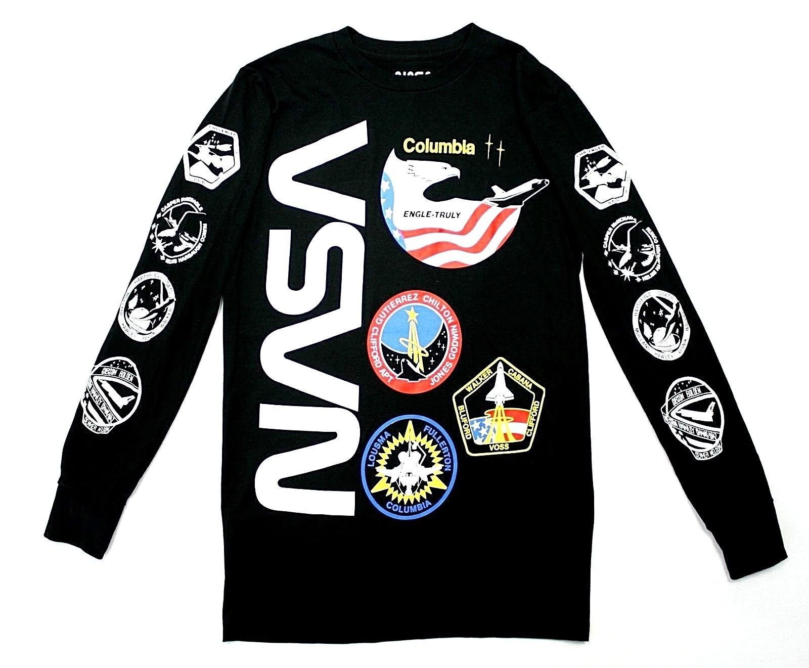 a81894752f7a 29.99 | NASA Mens Black Long Sleeve Graphic Tee Space Missions All Over  Print T Shirt ❤ #sleeve #graphic #missions #gifts #Comfy #souvenirs  #photography ...