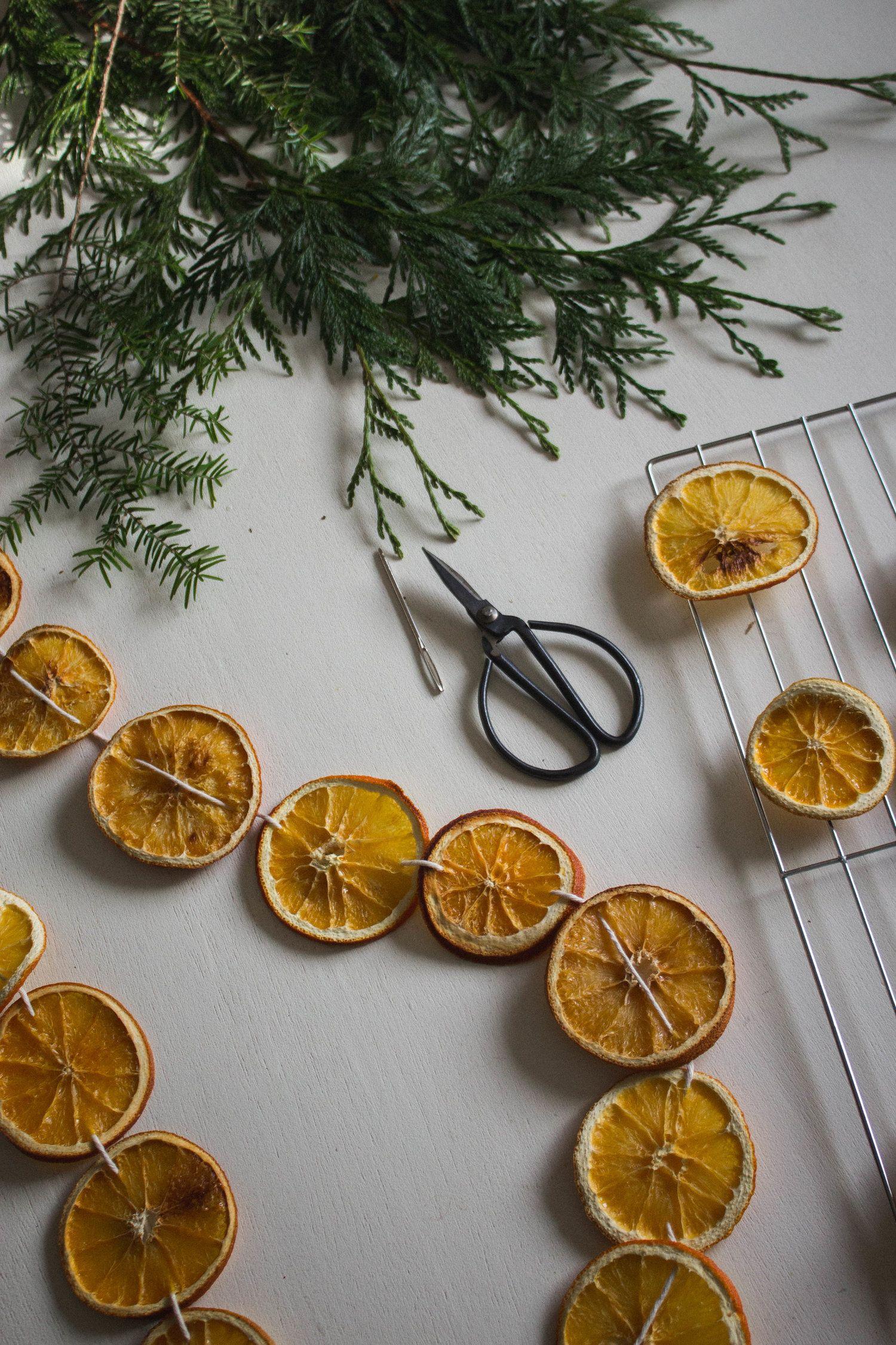 DIY Dried Orange Holiday Garland — Cashmere & Plaid