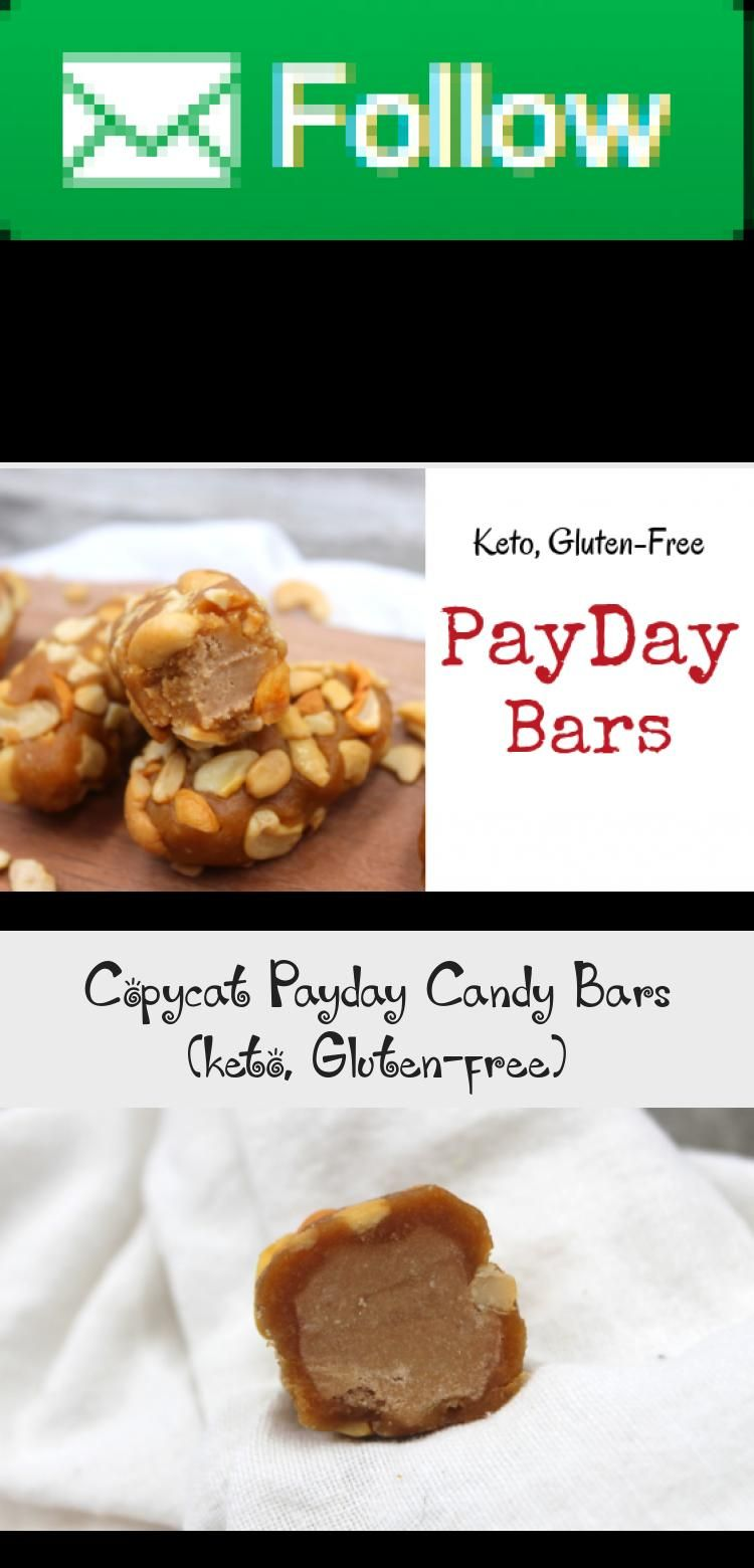 With only a handful of ingredients you can make homemade payday candy bars at home Keto glutenfree and cheaper than what you can make at home these copycat payday bars ar...
