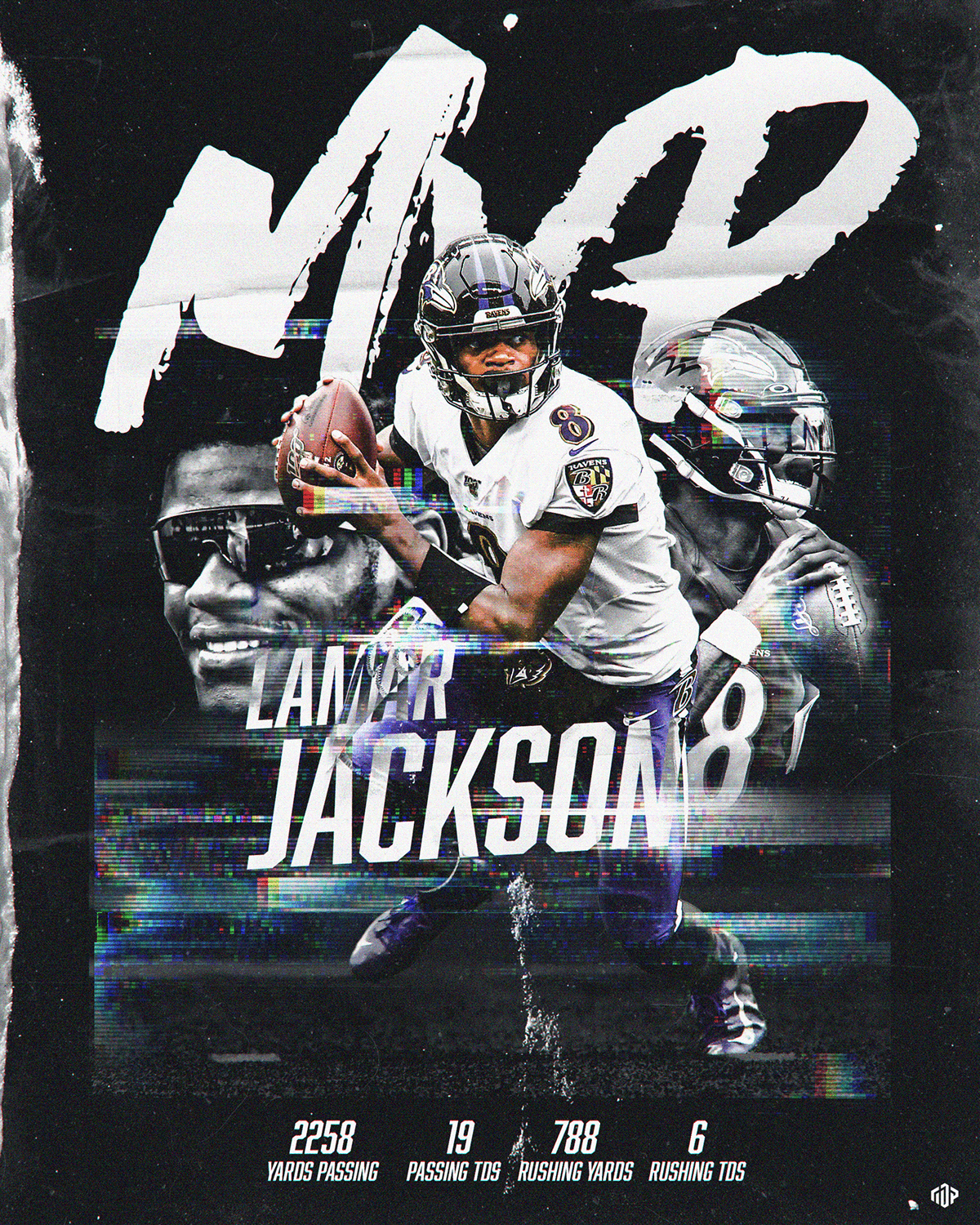 Lamar Jackson Mvp Graphic On Behance Lamar Jackson Nfl Football Art Baltimore Ravens Football
