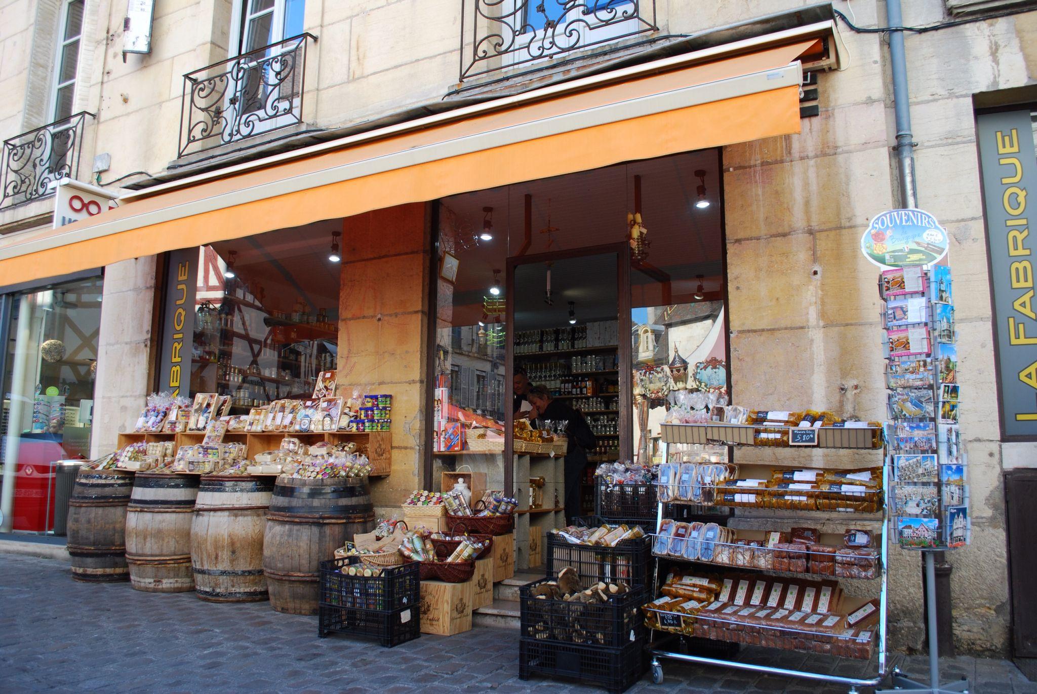 One of many mustard shops in Dijon
