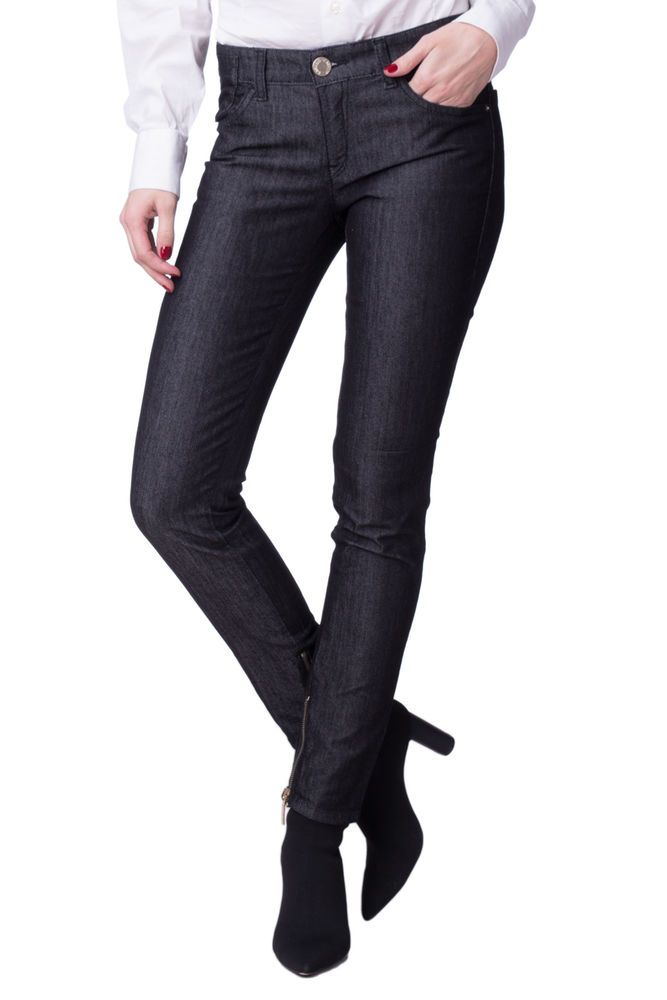 release info on best supplier buy sale EMPORIO ARMANI JEANS Black Jeans Size 28 Stretch Zipped ...