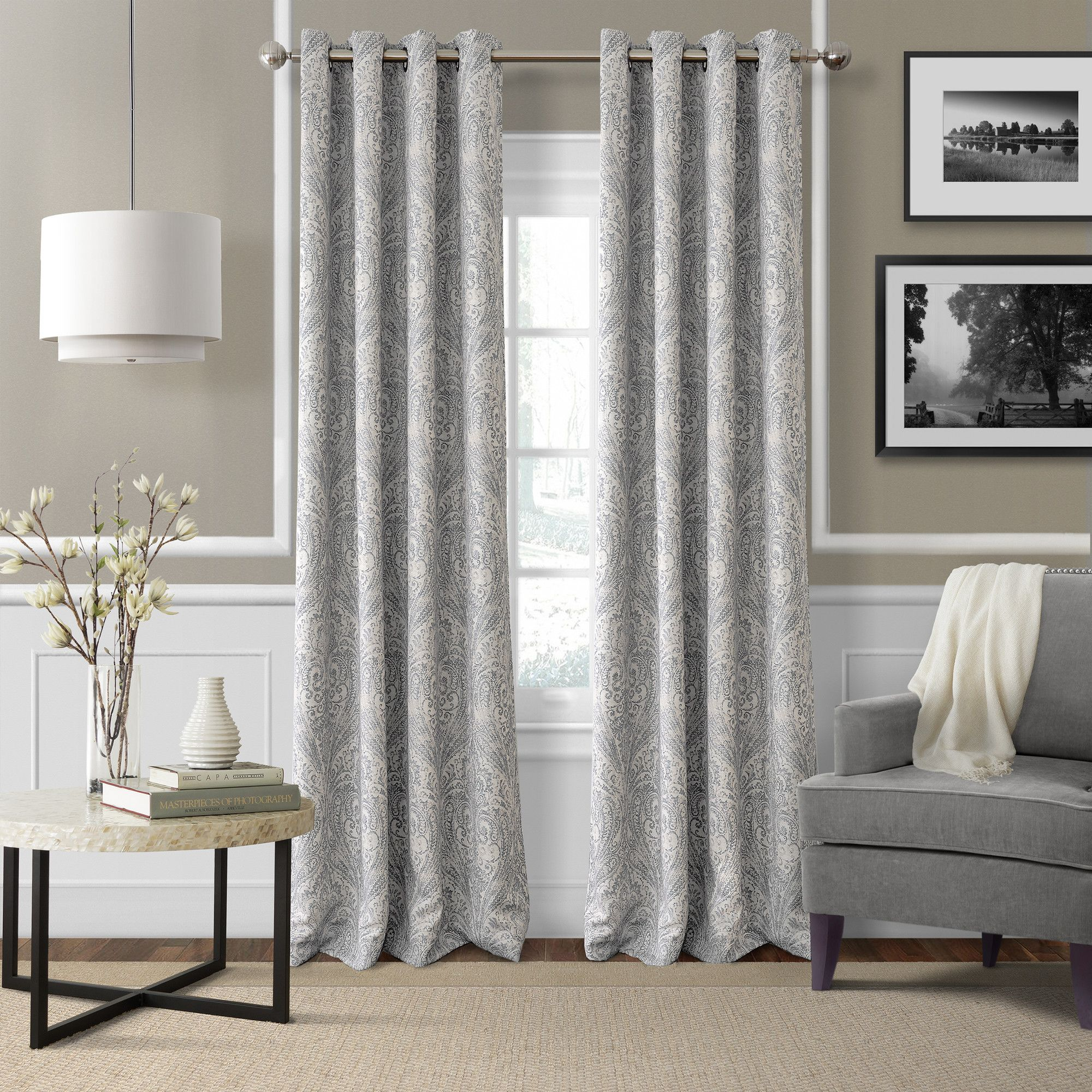 window free printed curtain blue panel curtains paisley xplrvr treatments park madison dermot love cotton