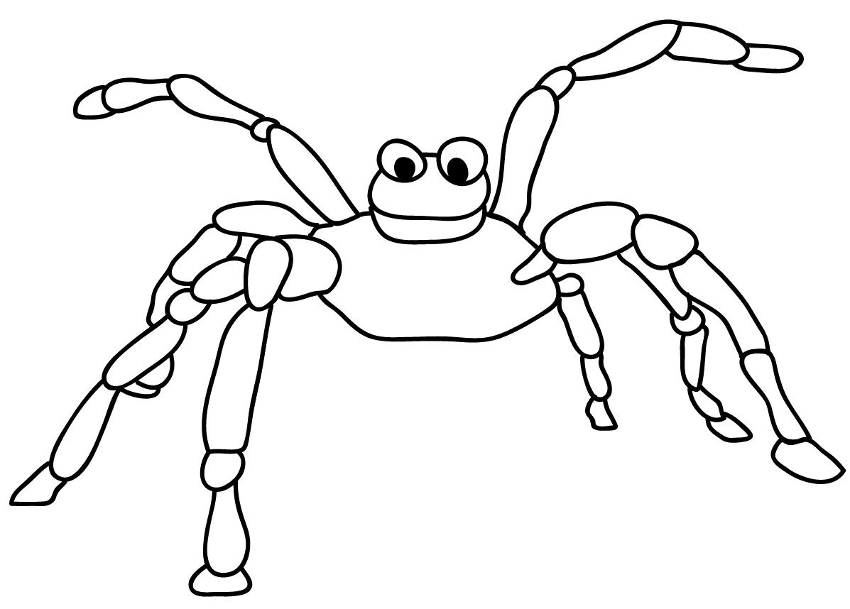 Cute Spider Coloring Page Spider Coloring Page Coloring Pages Cute