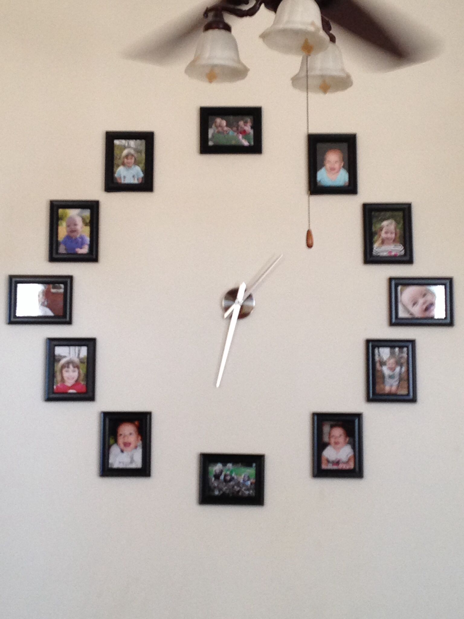 I Used Framed 5x7 Pictures Of My Five Kids And A Diy Clock Kit From