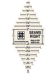 Sewing Measuring Tools - EZ Seams Right Ruler | notions | Pinterest : quilting measuring tools - Adamdwight.com