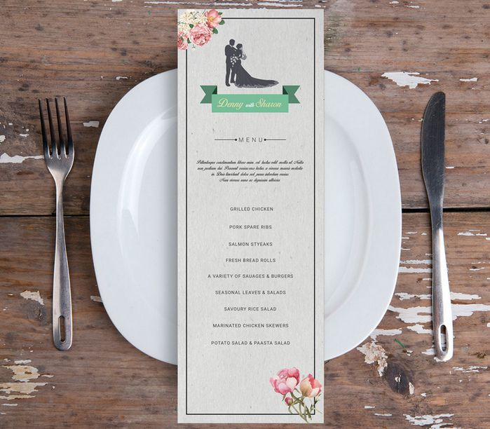 wedding menu flyer psd psd files Pinterest Restaurant menu - wedding flyer