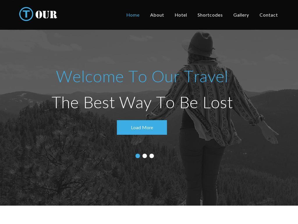 Шаблон для сайта туриста или путешественника, в шаблоне 7 HTML ...
