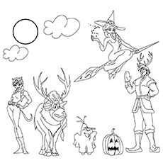 Frozen-Cast-Ready-For-Halloween-16 | Frozen coloring pages ...