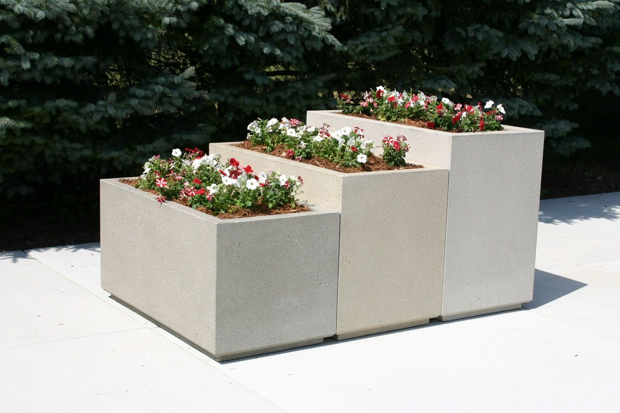 Lovely Concrete Rectangular Planters   Yahoo Image Search Results