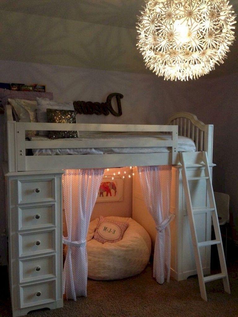 45 Lovely Girls Bed Room Ideas Tween Bedroom Decor Loft Beds For Teens Small Room Bedroom
