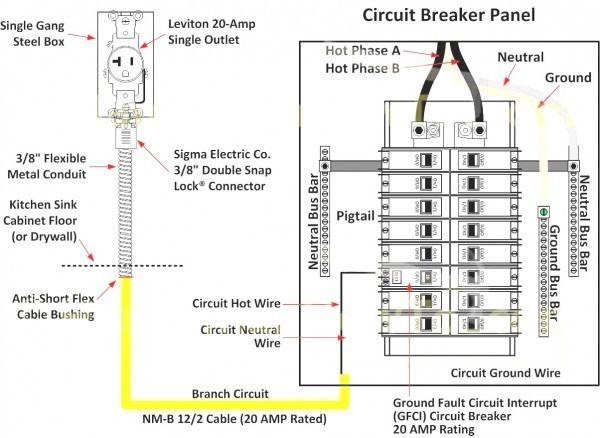 circuit breaker box diagram