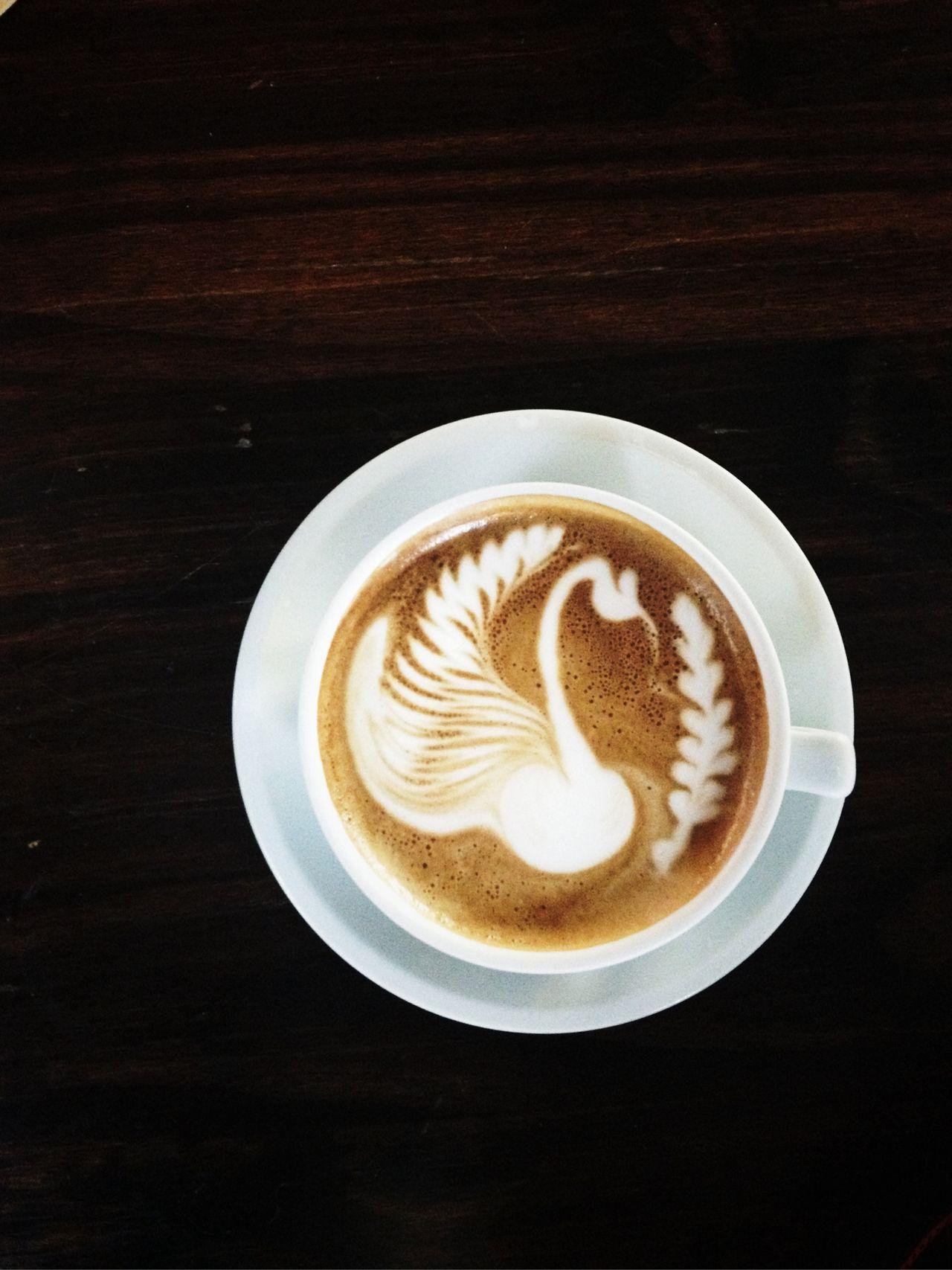 Legit latte art. At Kudu   Charleston, SC.   Hawaiian ...