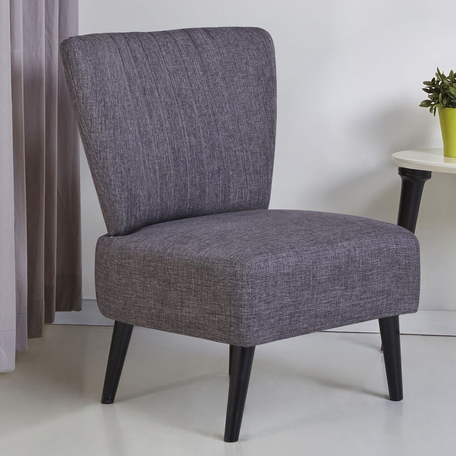 Best Gold Sparrow Fontana Armless Accent Chair Dark Gray In 400 x 300