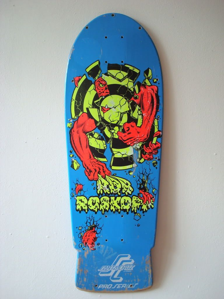 c7256f675d Santa Cruz Rob Roskopp III with Independent Trucks. Pretty cool board. I  still have it. This is what it looked like before all the wear and tear.