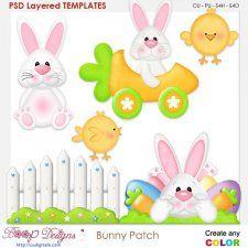 Spring Bunny Patch Layered Templates cudigitals.com cu commercial scrap scrapbook digital graphics#digitalscrapbooking #photoshop #digiscrap