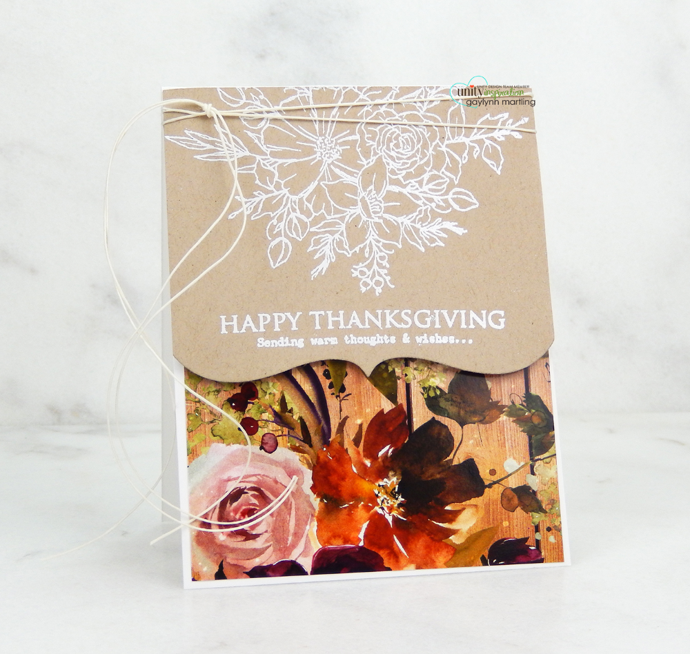 No coloring stamping with matching paper Thanksgiving