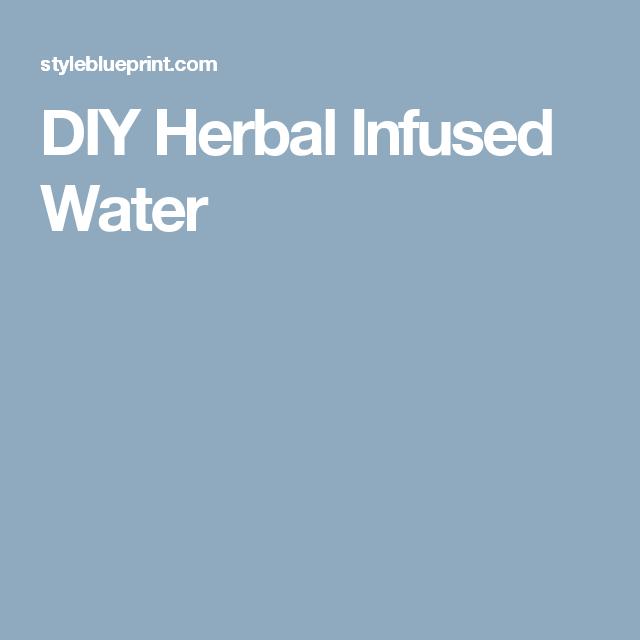 DIY Herbal Infused Water