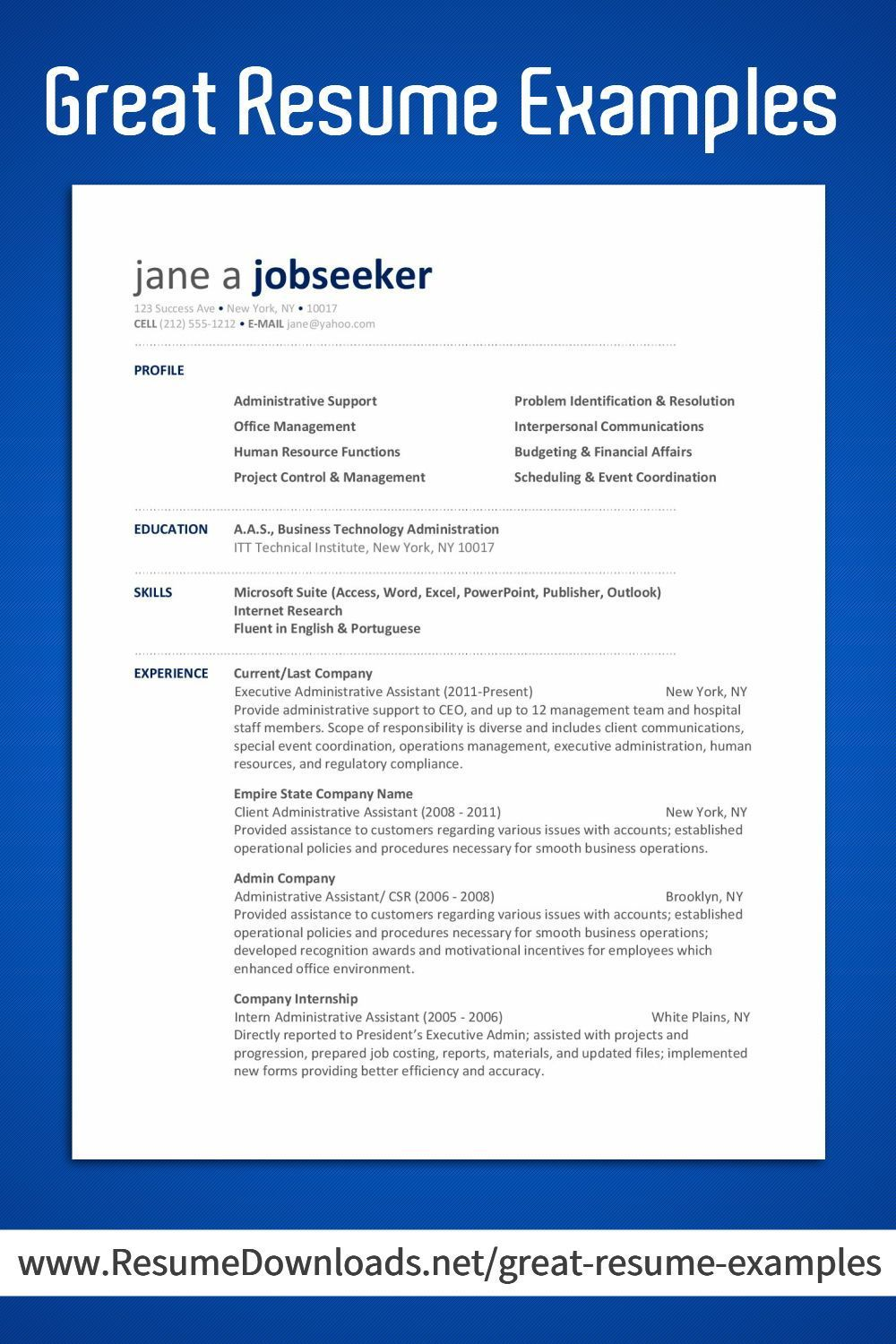 Pin by Modern Resume Design on Resume Examples Office in
