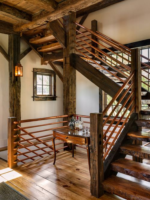 Best Copper Balustrade Rustic Staircase 400 x 300
