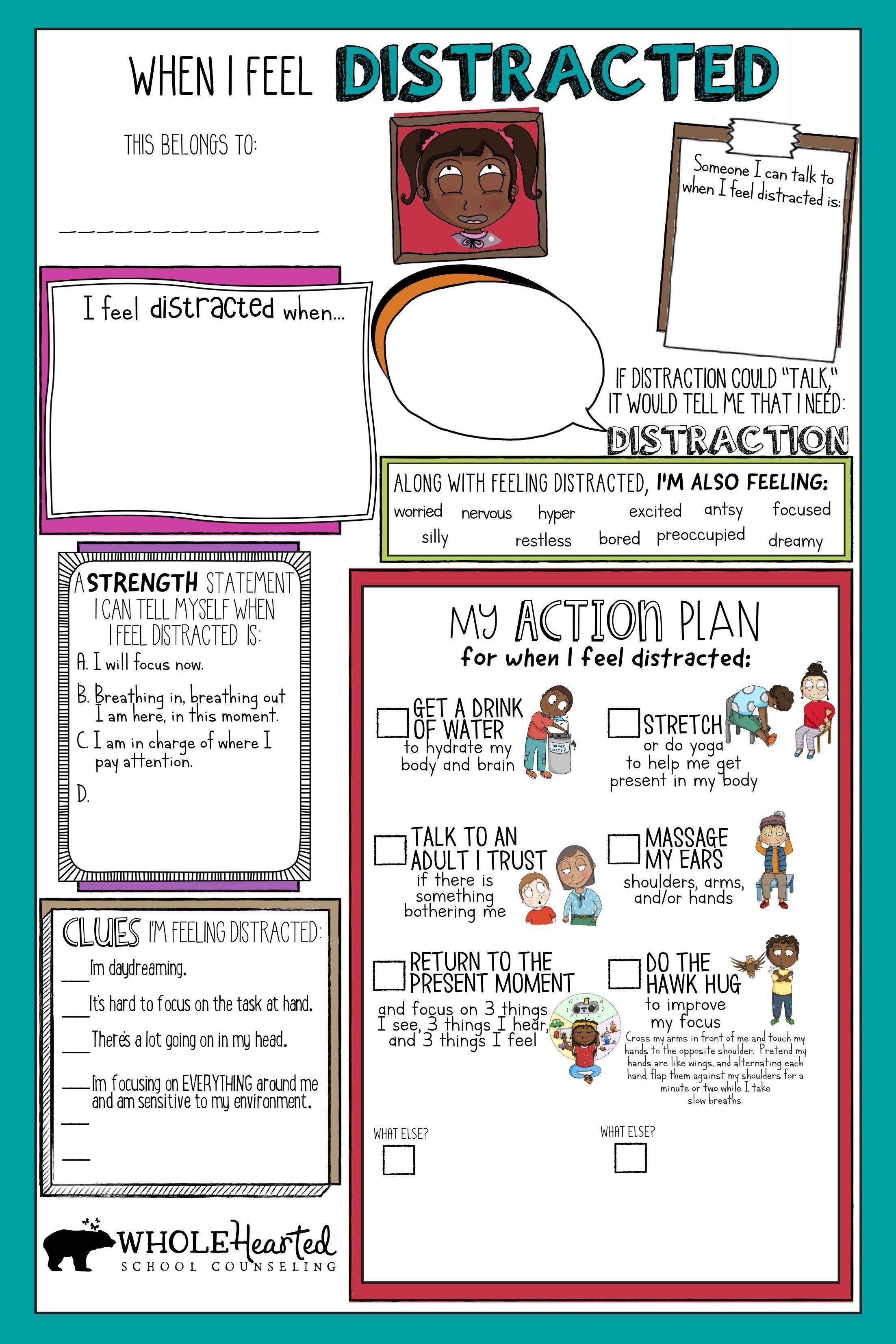 12 Memorable Coping Skills Worksheets Kartu Flash