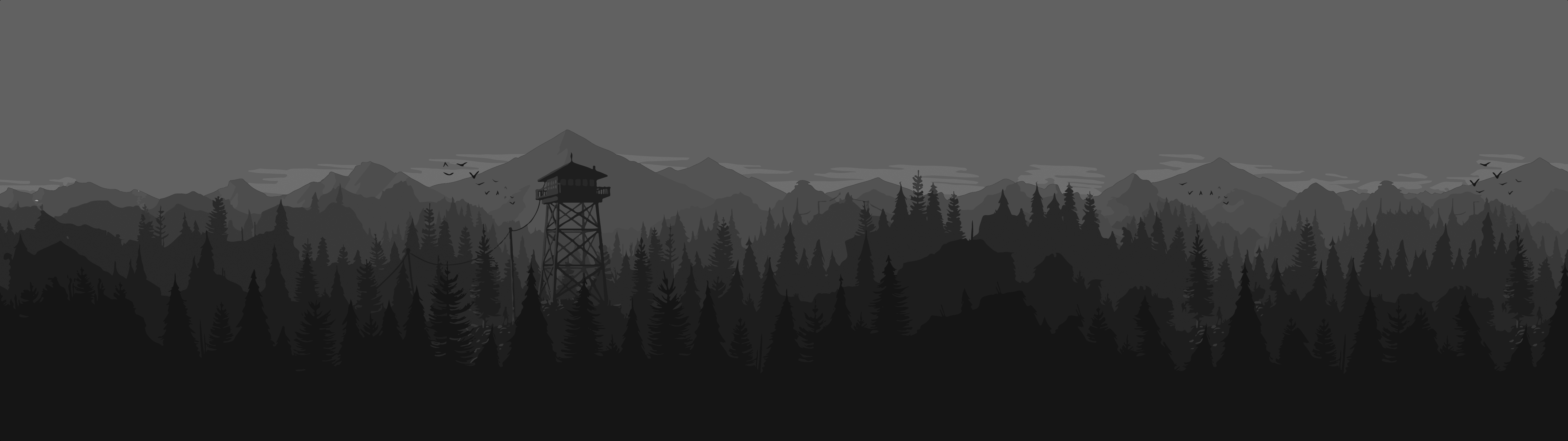 Greyscale Firewatch 5120x1440 Greyscale Nature Pictures Firewatch