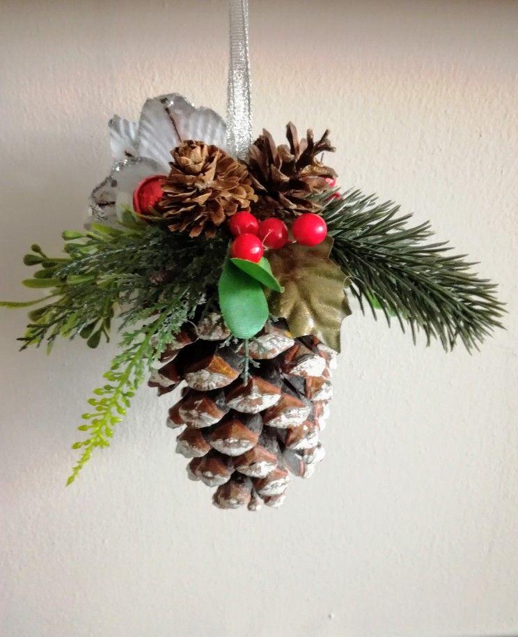 Szyszka Dekoracyjna Christmas Ornament Crafts Christmas Crafts Ornament Crafts