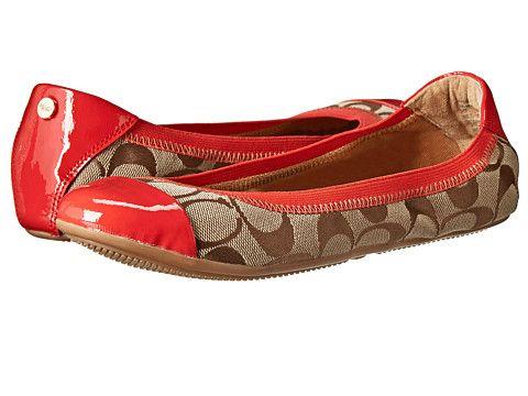 Online Store Womens Shoes COACH Wanda Khaki/Tigerlily 12cm Sig C/Patent