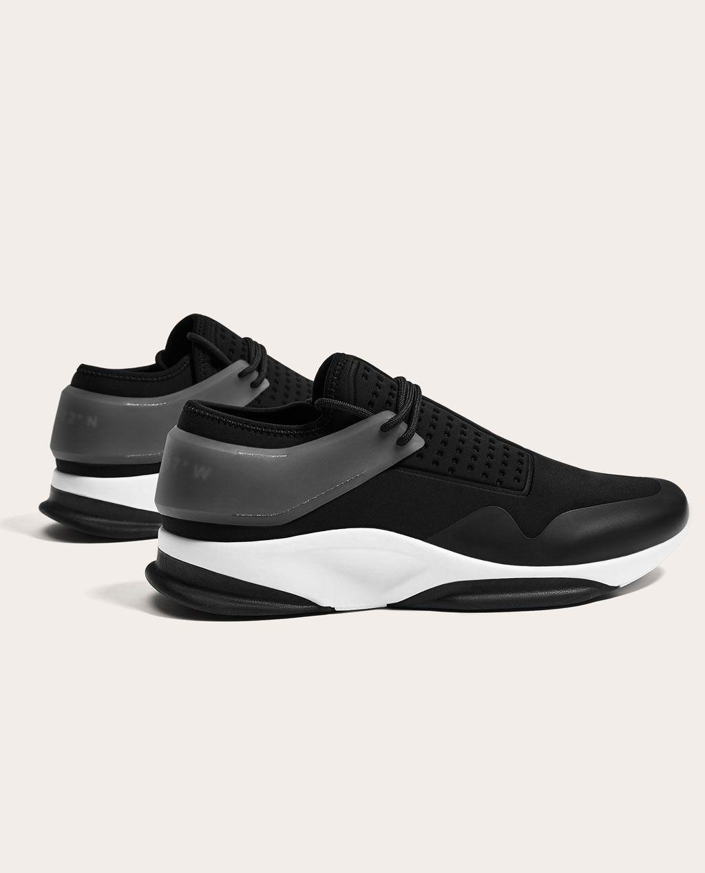 Image 1 De Tennis Noires De Zara Manner Turnschuhe Sneakers Mode Sneaker