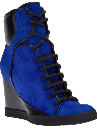 SEE BY CHLOÉ - bi-colour sneaker wedge 5