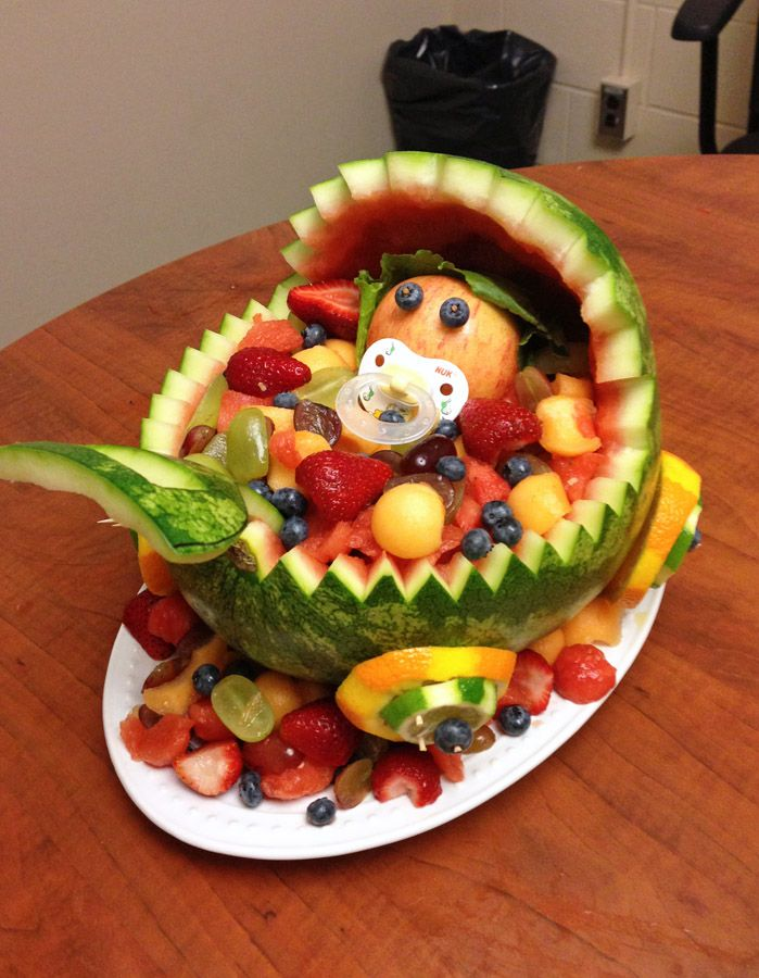 baby carriage watermelon fruit bowl | ... favourite part of the baby ...