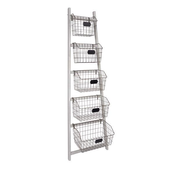 Storage Basket Ladder From Thatonlineshop 450 Gray