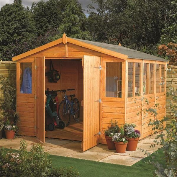 large shedworkshop combo - Garden Sheds Workshops