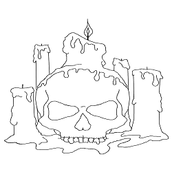 free halloween coloring pages by sarah bonczek simpson - Simpsons Halloween Coloring Pages